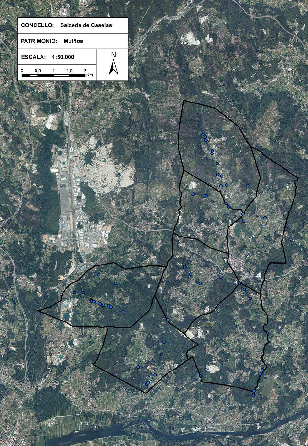 Mapa de Muíños de Salceda