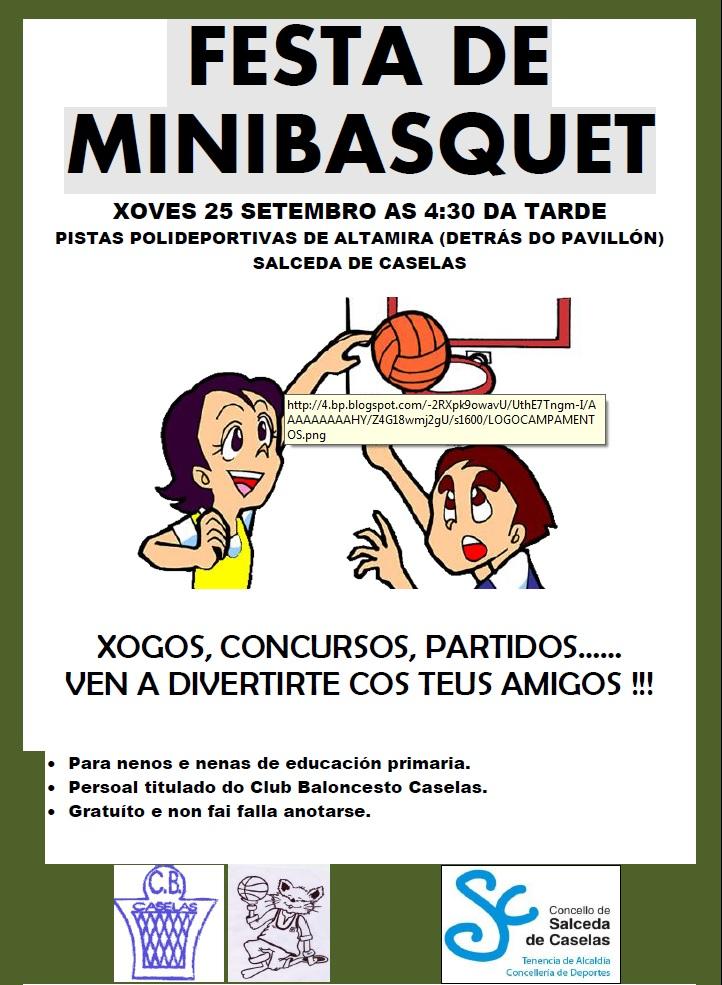 Festa minibasquet cartel